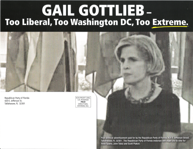 Gail Gottlieb attack ad - side 2